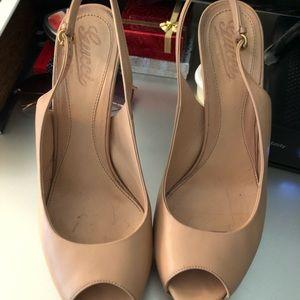 Gucci sling back high heels